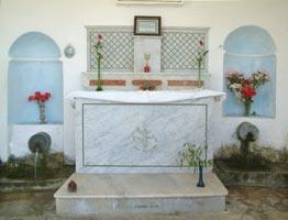 Interno della cappella della fonte di santa Giulia