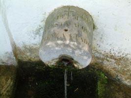 Bocca di sinistra della fonte di santa Giulia